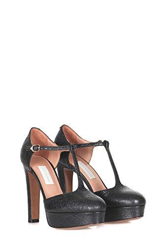 LAutre Chose Damen LD536012CP25331 Schwarz Leder Absatzschuhe