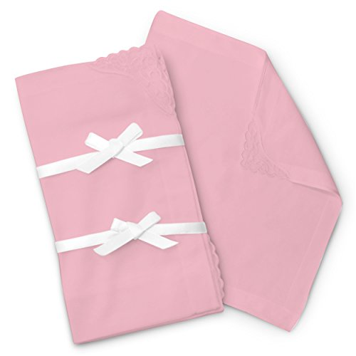 (Brooklyn Bamboo Ladies Handkerchief Hankie 6pc Set Pink Soft Assorted Woven Durable Hypoallergic 11