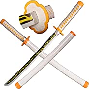 SV Wooden Anime Samurai Sword Cosplay, Demon Slayer Sword 29-inch Wooden Sword-a Variety of Styles to Choose f