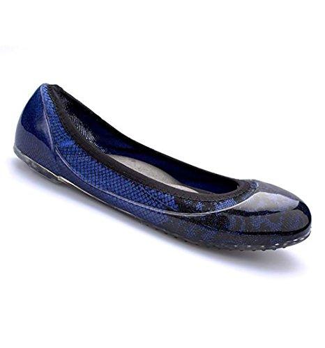 Ja Vie Marche Di Scarpe Per Le Donne Scivolare Su Per Ogni Guida Abiti Da Giorno E Camminare Pizzo Nero / Blu