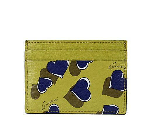 Gucci Heartbeat Collection Leather Card Case Wallet 334483 - Card Gucci Credit