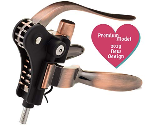 (Best Wine Bottle Opener Corkscrew Set With Foil Cutter and Extra Screwpull, Unique Gifts For Mom, Women, Men, Her, Him, Anniversary, Birthday, Christmas, Couples)