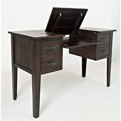 Jofran: 1605-40, Jackson Lodge, Student Desk, 48''W X 20''D X 30''H, Deep Chocolate Finish, (Set of 1)