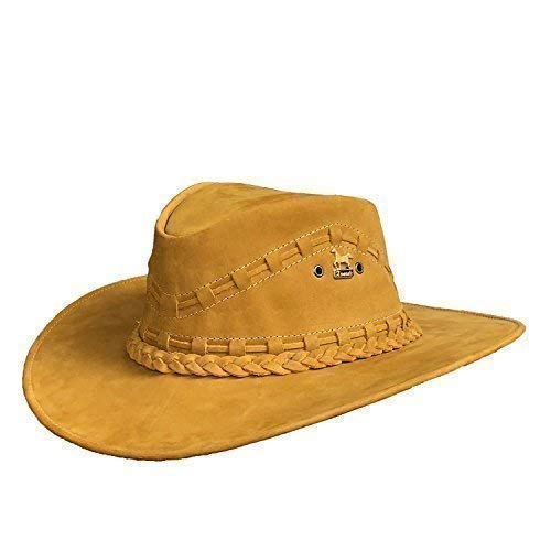 Brunello's Leather Western Hat in Desert Brown- Guaranteed to Stand out