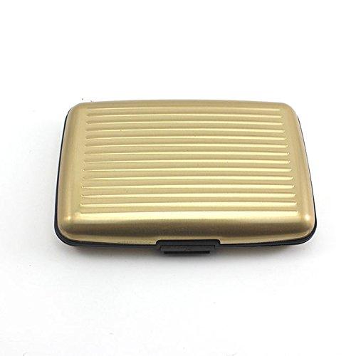 Wasserdichte Taschen HuntGold Business ID Credit Card Wallet Aluminiummetallkarte Pouch (Gold)