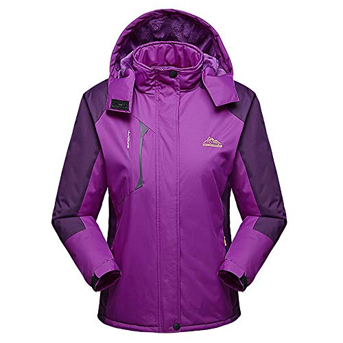 DongDong✫Women's Outdoor Jackets,Casual Padded Thickened Zipper Hoodie Plus Size Velvet Winter Sports ()
