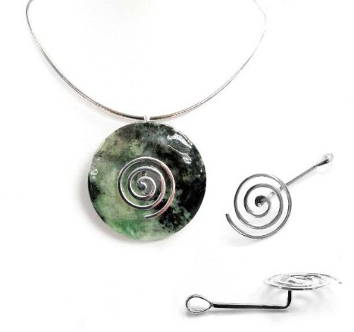 Dreambell 1pc .925 Sterling Silver Coil Donut Pendant Holder Connector Dangle Bail/Findings/Bright