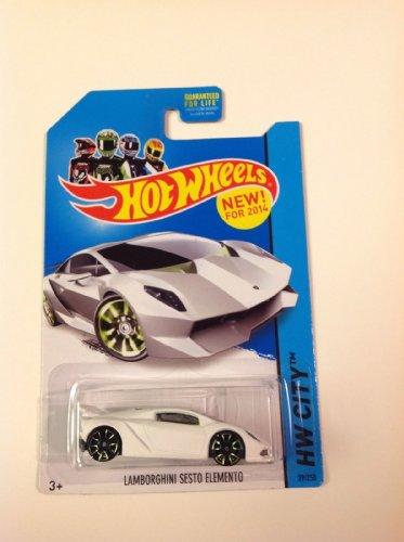 2014 Hot Wheels Hw City - Lamborghini Sesto Elemento - White