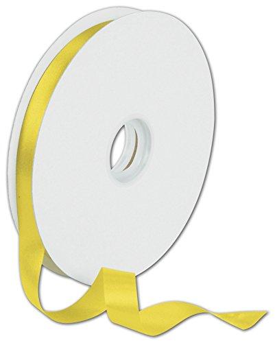 - Ribbons Solid Color - Dyna Yellow Satin Ribbon, 5/8