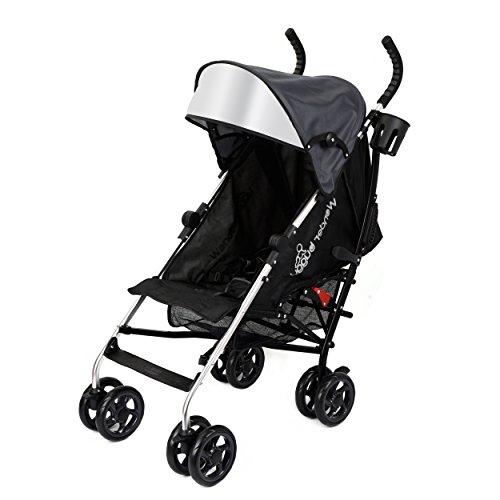 Wonder Buggy Baby Stroller Lightweight All Town Rider Four Position Stroller with Sun Visor, Black by Wonder Buggy