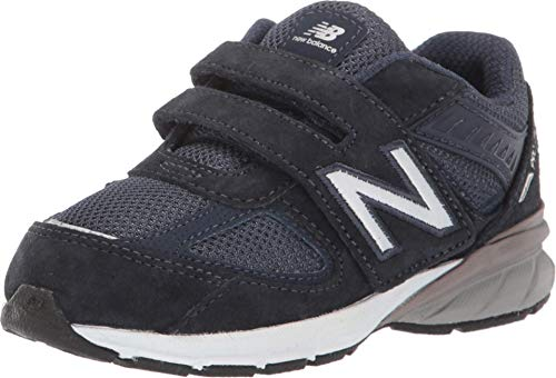 New Balance Boys' 990v5 Hook and Loop Running Shoe, Navy/Navy, 10 W US Toddler