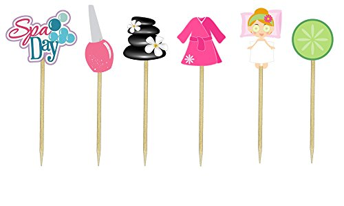 Spa Day Cupcake Toppers by Just For Your Baby Boutique