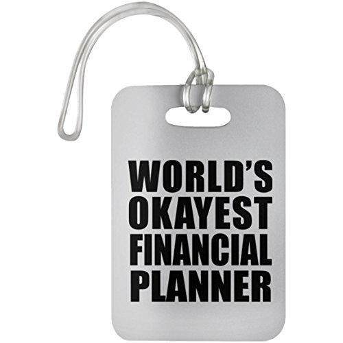 World's Okayest Financial Planner - Luggage Tag, Suitcase Bag ID Tag