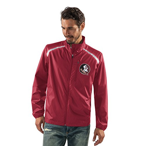 NCAA Florida State Seminoles Men's Storm Full Zip Packable Jacket, X-Large, (Garnet Florida State Seminoles Jacket)