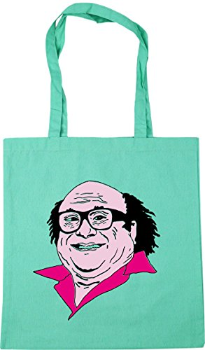 HippoWarehouse Frank Illustration Tote Shopping Gym Beach Bag 42cm x38cm, 10 litres Mint