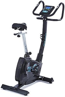 CapitalSports Durate Bicicleta estática Profesional (Resistencia magnética Ajustable, Masa giratoria 9 kg, 8 Niveles dificultad, Monitor Entrenamiento, 4 perfiles Usuario, Soporte de Motor) - Negro: Amazon.es: Deportes y aire libre