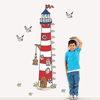 Decalmile Hohentabelle Wandtattoo Gross Leuchtturm Wandsticker Mowe Kinderzimmer Wandaufkleber Babyzimmer Schlafzimmer Wohnzimmer Wanddeko Amazon De Kuche Haushalt