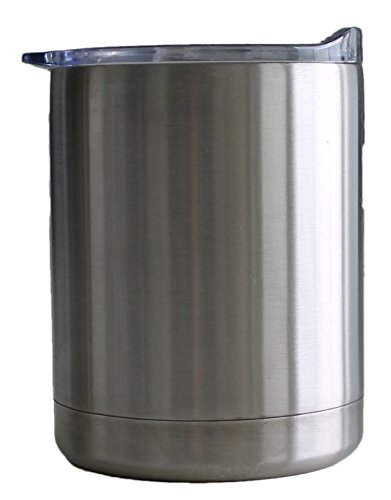 Stainless Steel Double Wall Vacuum Insulated Tumbler with Splashproof Lid, 10 oz - Maximum Ice Retention for Cold Drinks - Double Walled Heat Insulation for Hot Drinks - 18/8 Stainless Steel