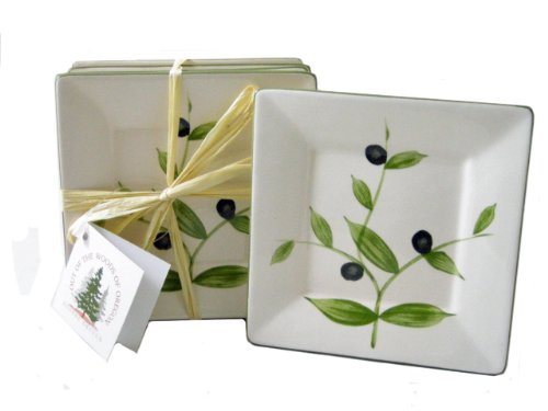 Set Plate Tidbit (Olive Tapas and Tidbit Plates, Set of Four)