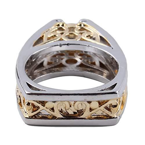 YESMAEA Triangle Ring Faux Diamond Ring Engagement Wedding Band Ring,7 ()