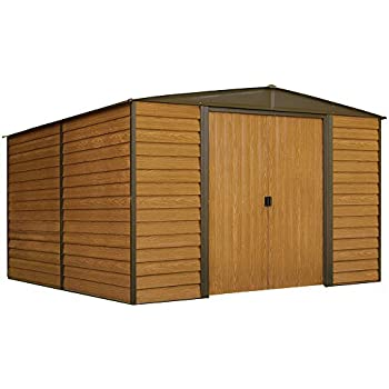 Arrow WR1012 Woodridge EG, 10 by 12-Feet Steel Storage Shed, ft. x ft, Neutral