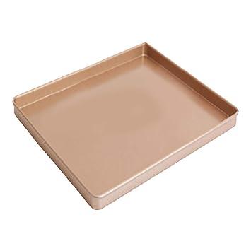 BESTONZON Molde para horno de acero al carbono de 12 pulgadas Molde para turrón Moldes para pasteles rectangulares antiadherentes Bandejas de pastelería ...