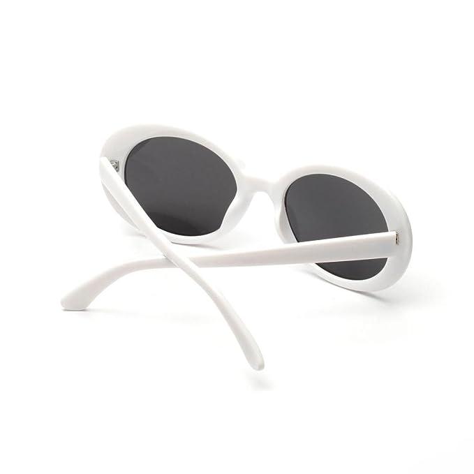 Sharplace Lunettes De Soleil Ovales Monture En Métal Unisexe Accessoire Vêtement - Lentille rouge, comme décrit