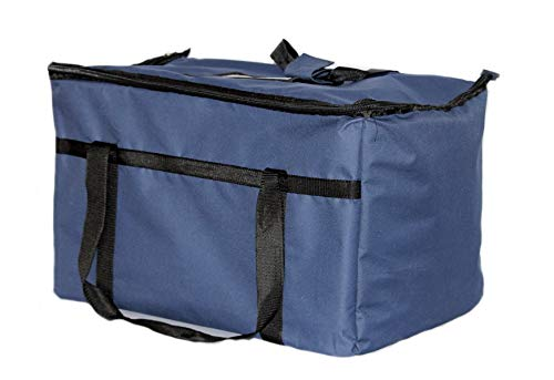 (Restaurantlinenstore Insulated Food Delivery Bag Pan Carrier, 23 x 13 x 15-Inches (Blue))