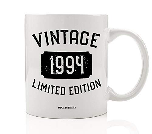 1994 Coffee Mug Born In the Birth Year Vintage Limited Edition Birthday Gift Idea Great Present for Man Woman Friend Family Member Office Coworker 11oz Ceramic Beverage Tea Cup Digibuddha DM0764