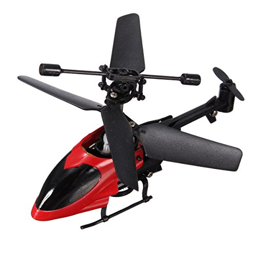 Annvivi Super Mini QS QS5013 2.5CH Micro Remote Control RC Helicopter Best Christmas Gift for Boys (Red)