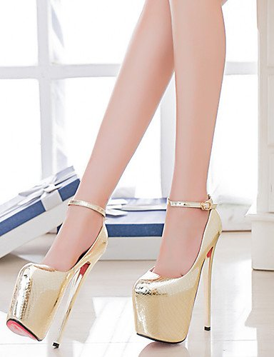 us10 Ggx Uk8 Zapatos Bombas Cm Golden Talón Aguja Cn43 Dedo Mujer 5 Redondo Más Atractivo 5 19 Pie Altura Del Fiesta De Eu42 xTxRwgqp