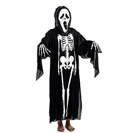 Vestiti Halloween Fai Da Te Adulti.Winomo Puntelli Di Halloween Costume Cosplay Set Teschio Scheletro Fantasma Vestiti Urlando Fantasma Maschera Travestimento Per Adulti Nero