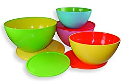 Dci Two Toned Mixing Bowls With Lids, Set of 4