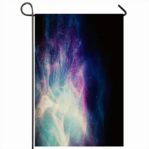 Ahawoso Seasonal Garden Flag 12x18 Inches Bright Astronomy Milky Way Galaxy Pointing On Adventure Attractive Calendar Cloud Color Cosmos Design Home Decorative Outdoor Double Sided House Yard Sign ()