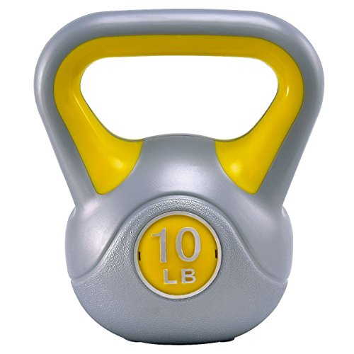 Apontus Kettlebell Exercise Fitness Body 10lbs Weight Loss Strength Training Workout by Apontus