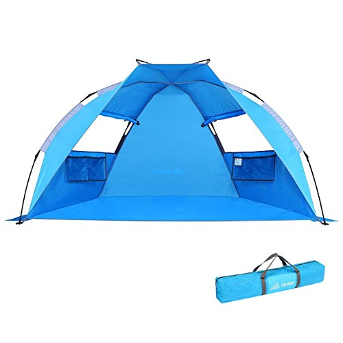 SEMOO Beach Tent Sun Shade Shelter Lightweight Water Resistant 2-Person, 1-Cabin, UV Protection Easy Set UP Instant Tent with Carry Bag by SEMOO