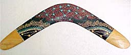 Aboriginal Dot Painted Boomerang Wall Decor Home