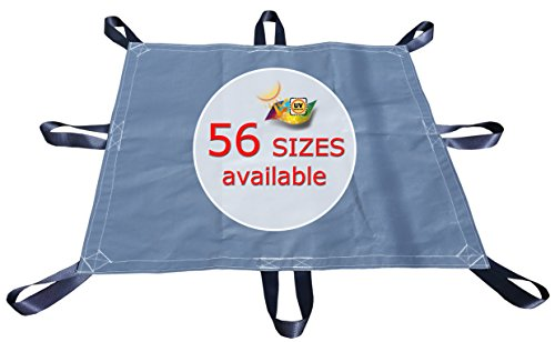 10x10 Hay Tarp 16.5 MIL Super-Strong Poly Cover - Gray/White -Highly UV Resistant