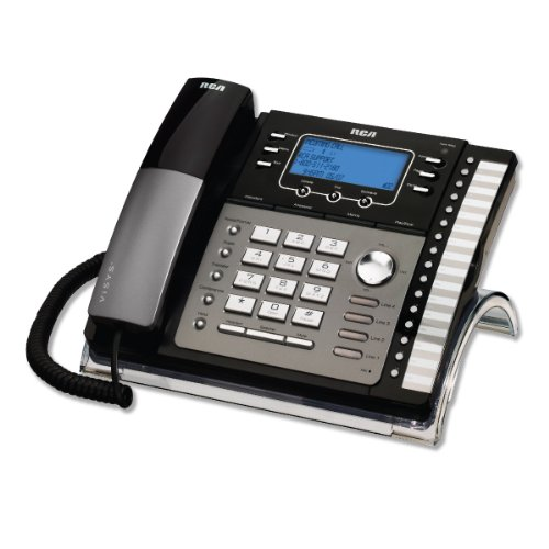 RCA 25425RE1 4-Line Corded Expandable Speakerphone with Digital Answering System, Black/Silver (Corded Digital Answering System)
