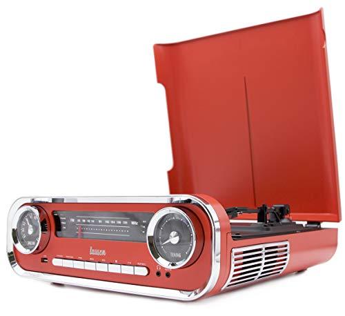 Lauson 01TT17 Vinyl Platenspeler Retro | Vintage Turntable Muscle Car-design met 2 Geïntegreerde 3W Stereoluidsprekers…