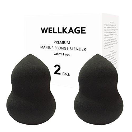 WELLKAGE Makeup Sponge Blender Latex Free and Hypoallergenic
