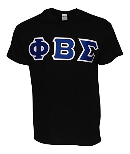 Black Beta T-shirt (Mega_Greek Mens Phi Beta Sigma Letter T-Shirt (Black, XX-Large))