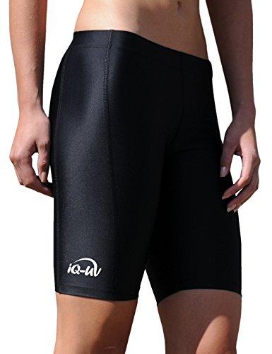 iQ-Company Damen Bikinihose IQ UV 300 Shorts Watersport, Black, L, 663122_2800