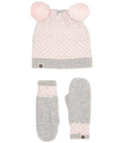 - UGG Kids Baby Girl's Chevron Pom Hat/Mitten Set (Toddler/Little Kids) Sterling Heather Multi 4-6 Years