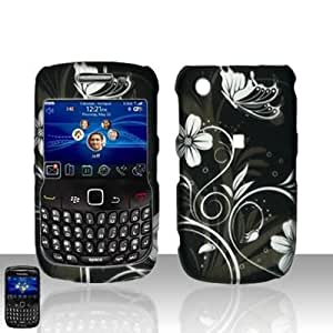 MIDNIGHT GARDEN Hard Plastic Design Matte Case for Blackberry Curve 3G 9330 / Curve 8520 [In Twisted Tech Retail Packaging]