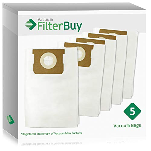 FilterBuy VacMaster Compatible Dust Bags. Designed to fit VacMaster & Shop-Vac Vacuum Cleaners. Pack of 5.