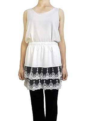 Vanrose Jan Women's Lace Extender Mini Lace Skirts Half Slip Extra Length Plus Size