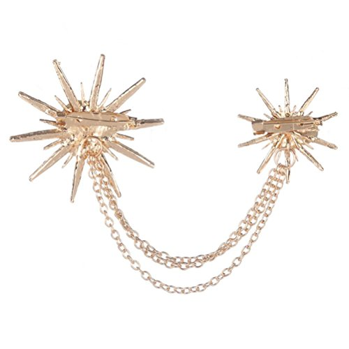 Botrong Fashion Crystal Artificial Diamond Spark Rhinestone Retro Brooch (Gold) ()