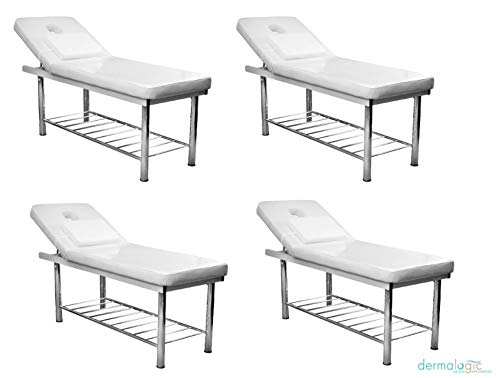 4 x Massage Bed WHITE SANGER Multi Purpose Ideal for Massage, Waxing, Threading, Facial, Tattoo