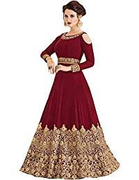 3d4dca2e1 Range Of India Women's Anarkali Salwar Kameez Designer Indian Dress Ethnic  Party Embroidered Gown